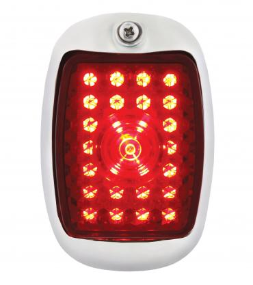 United Pacific 45 LED Tail Light w/Black Housing For 1940-53 Chevy & GMC Truck - L/H C7031RL