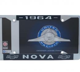 United Pacific Chrome License Plate Frame For 1964 Chevy Nova C5045-64