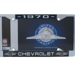 United Pacific Chrome License Plate Frame For 1970 Chevrolet Car & Truck C5041-70