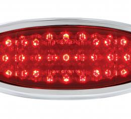 United Pacific 33 LED Tail Light Assembly W/Chrome Bezel For 1949-50 Ford Car FTL4950LED-AS