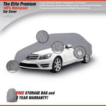 AMC REBEL Elite Premium Waterproof Car Cover, Gray, 1967-1970