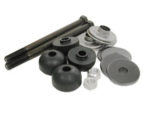 Corvette Rear Leaf Spring Bolt Kit, Long Bolts, With Rubber Cushions, 1963-1982