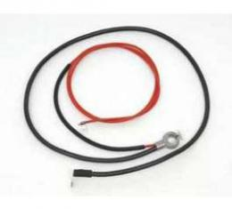 Full Size Chevy Spring Ring Battery Cable, Negative, 6-Cylinder, For Cars Without Air Conditioning, 1967
