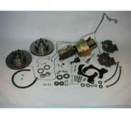 Full Size Chevy Complete Power Disc Brake Kit, With 9 Booster & Standard Steel Lines, 1965-1968