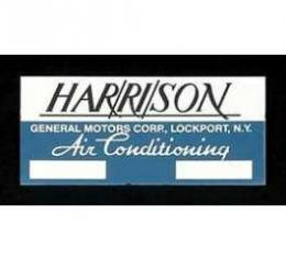 Full Size Chevy Air Conditioning Evaporator Box Plate, Aluminum, Harrison, 1958-1964