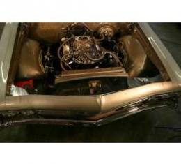 Full Size Chevy Radiator Core Support Filler Panels, Polished, Impala, 1965
