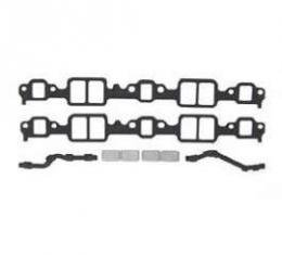 Full Size Chevy Intake Manifold Gasket Set, With Block Off-Plate, V8,1958-1964