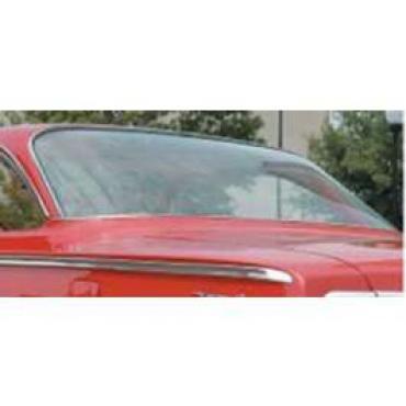 Full Size Chevy Rear Glass, Tinted, 2-Door Hardtop, Impala, 1958