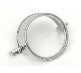 Full Size Chevy Taillight & Back-Up Light Lens Chrome Trim Ring, Driver Quality, 1964