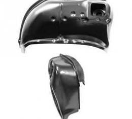 Full Size Chevy Wheelhouse, Left, Rear, Complete Inner & Outer, Coupe, Impala, 1964