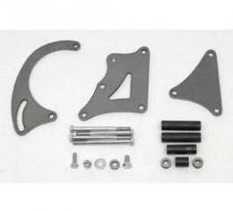 Full Size Chevy Long Water Pump Alternator Bracket Kit, Extra Clearance, Small Block, 1958-1972