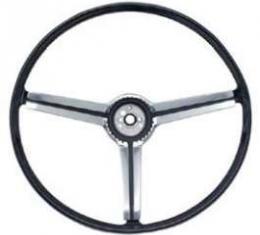 Full Size Chevy Deluxe Steering Wheel, Black, 1968