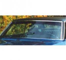 Full Size Chevy Windshield, Tinted & Shaded, Without Antenna, Convertible, 1971-1975