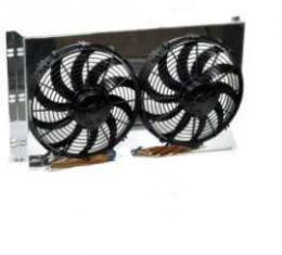 Full Size Chevy Dual Fans, For Use With Knockout HP Series Aluminum Radiator, Griffin, 1959-1964