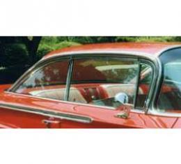 Full Size Chevy Door Glass, Tinted, Non-Date Coded, 2-Door Sedan, 1958