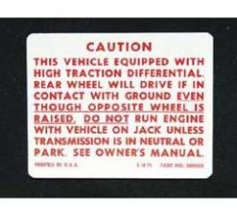 Full Size Chevy Positraction Decal, 1971-1972