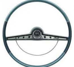 Full Size Chevy Steering Wheel, Two-Tone Blue, Impala, 1963