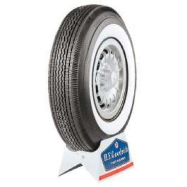 Full Size Chevy Tire, 8.00 x 14, With 2-1/4 Whitewall, B.F. Goodrich Bias Ply, 1958-1961