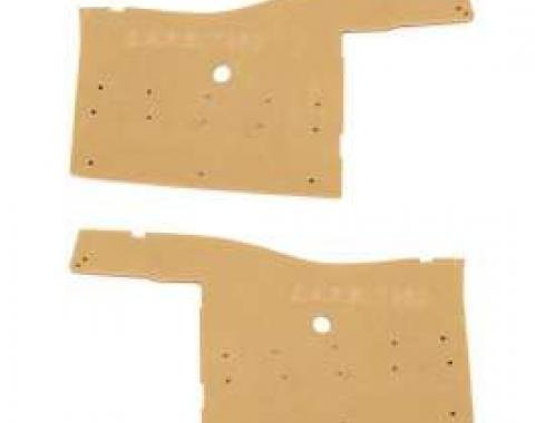 Full Size Chevy Rear Quarter Panel Boards, Impala Convertible, 1958