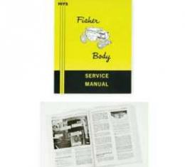 Full Size Chevy Service Manual, Fisher Body, 1972