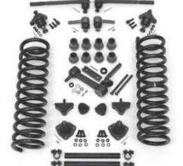 Full Size Chevy Front End Suspension Rebuild Kit, With Standard Coil Springs & Poly Bushings, 1961-1964