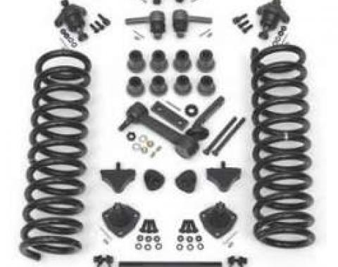 Full Size Chevy Front End Suspension Rebuild Kit, With Heavy-Duty Coil Springs, 1961-1964