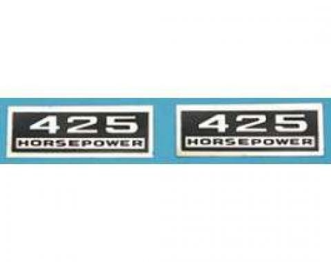 Full Size Chevy Valve Cover Decal, Big Block, 409ci/425hp