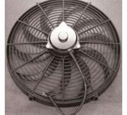 Full Size Chevy Electric Cooling Fan, Reversible, 16, Black, 1958-1972