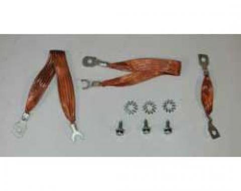 Full Size Chevy Ground Wire Strap Kit, V8 & 6-Cylinder, 1961-1964