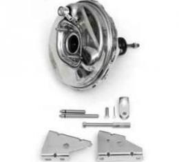 Full Size Chevy Power Brake Booster Assembly, 9, Stainless Steel, 1964-1966