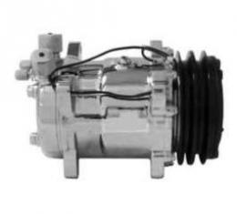 Full Size Chevy Air Conditioning Compressor, Chrome, Sanden 508 & 134A,V-Belt System, 1958-1972