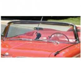 Full Size Chevy Windshield, Clear, 2-Door Hardtop & Convertible, Impala, 1961-1962