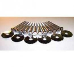Full Size Chevy Body Mounting Bolt & Washer Set, Stainless Steel, Hardtop & Sedan, 1965-1966