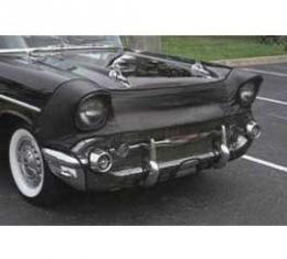 Full Size Chevy Auto Bra, With Grille Guard Bumpers, Black, 1963