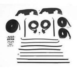 Full Size Chevy Weatherstrip Kit, 2-Door Hardtop, Fast Back Sport Coupe, Impala, 1968