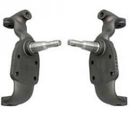 Full Size Chevy Dropped Spindles, 2 Modular, With Caliper Brackets &Hardware, 1958-1970
