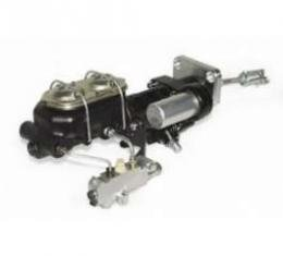 Full Size Chevy Brake Booster, Hydroboost, With Proportioning Valve, Bracket & Lines & Dual Master Cylinder, 1958-1964