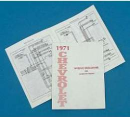Full Size Chevy Wiring Harness Diagram Manual, 1971