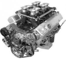 Full Size Chevy Serpentine Drive System, Small Block, With Power Steering, Bright Finish Package, FrontRunner, Vintage Air, 1958-1972