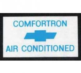 Full Size Chevy Window Comfortron Air Conditioning Decal, 1968-1970