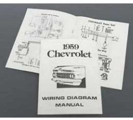 Full Size Chevy Wiring Harness Diagram Manual, 1959