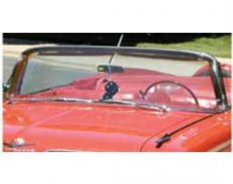 Full Size Chevy Windshield, Tinted & Shaded, 4-Door Hardtop, Impala, 1963-1964