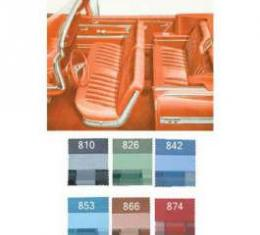 Full Size Chevy Seat Cover Set, Impala Convertible, 1959