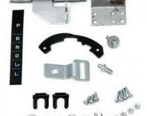 Full Size Chevy Automatic Transmission Shifter Conversion Kit, Powerglide To TH350 & 400, 1964