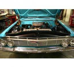 Full Size Chevy Core Support Filler Panels, Black Anodized, 1961