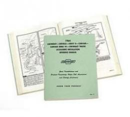 Full Size Chevy Accessory Installation Reference Manual, Passenger Car & Truck, 1964