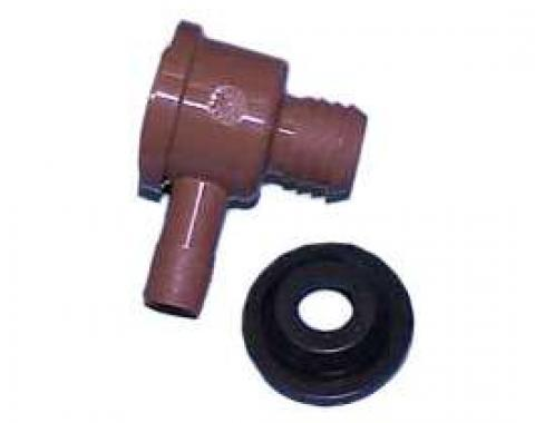 Full Size Chevy Power Brake Booster Check Valve, With Seal, 1959-1972