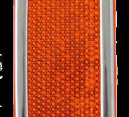Key Parts '73-'80 Front Sidemarker Amber w/Trim 0850-521
