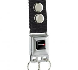 Keychain - Dodge Red Rhombus Full Color Black/White/Red
