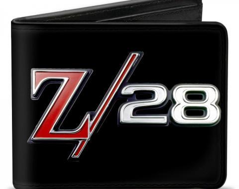 Bi-Fold Wallet - 1969 Camaro Z/28 Emblem Black/Silvers/Red